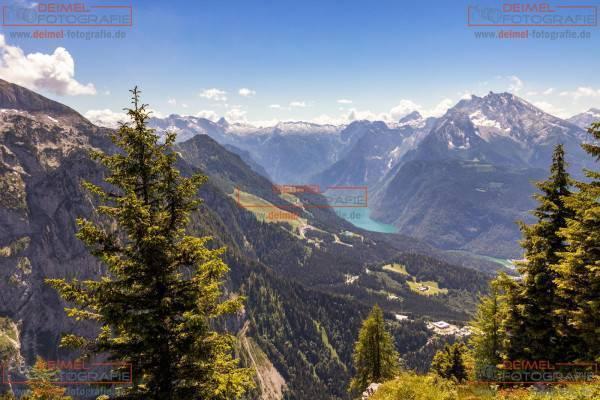 Blick vom Kehlstein auf den Königssee