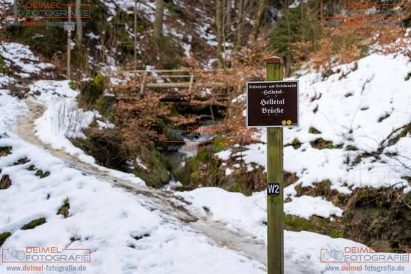 Schluchten- und Brückenpfad - Frühling 1