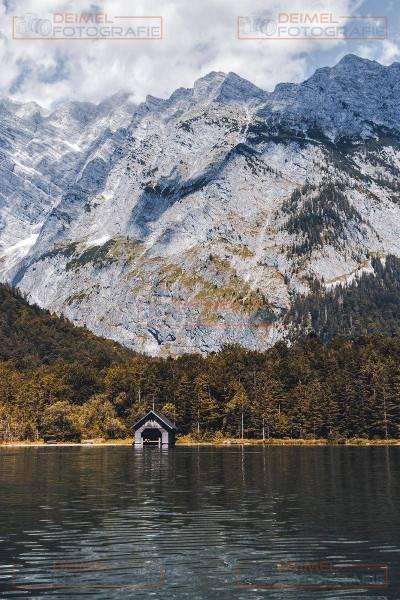 Königssee mit Hütte