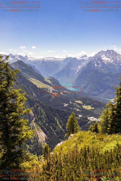 Blick vom Kehlstein auf den Königssee Hochformat