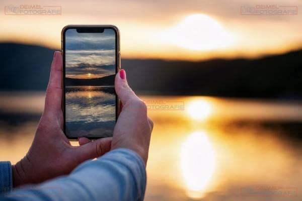 Sonnenuntergang Handy