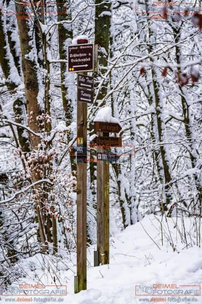 Schluchten- und Brückenpfad - Winter 1