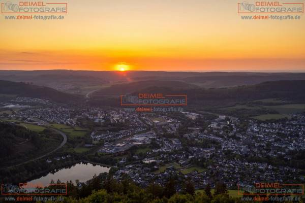 Olsberg Gipfelkreuz Sonnenuntergang